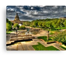 Legislature Grounds in HDR Canvas Print