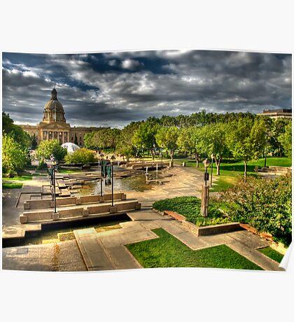 Legislature Grounds in HDR Poster