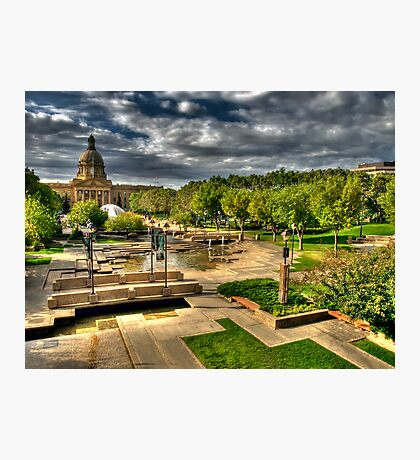 Legislature Grounds in HDR Photographic Print