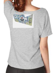 shark eating cops Women's Relaxed Fit T-Shirt