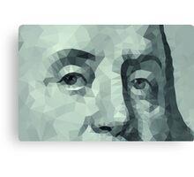 Benjamin Franklin closeup Canvas Print