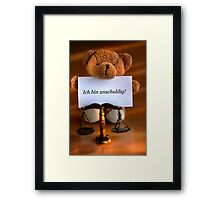 I am Innocent! Framed Print