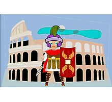 Roman Toon Boy 9 - no gladiator rebellion tonight Photographic Print