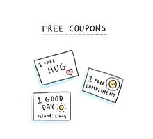 Cute Free Coupon Design by PsyhcoRadioacti