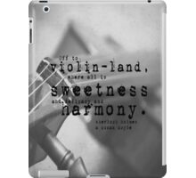 Violin Sherlock Holmes iPad Case/Skin