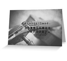 Violin Sherlock Holmes Greeting Card
