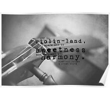 Violin Sherlock Holmes Poster
