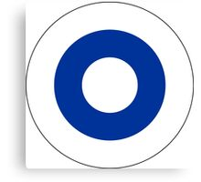 Roundel of the Finnish Air Force  Canvas Print