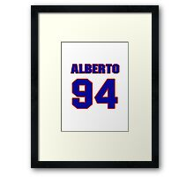 National football player Alberto White jersey 94 Framed Print