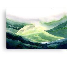 Sunlit hill Canvas Print
