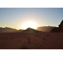 Dusk In The Desert Photographic Print
