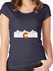 Colorado flag Women's Fitted Scoop T-Shirt