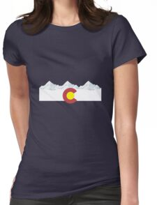 Colorado flag Womens Fitted T-Shirt