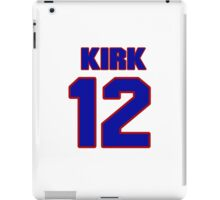 National football player Kirk Cousins jersey 12 iPad Case/Skin