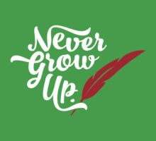 Peter Pan - Never Grow Up. One Piece - Short Sleeve