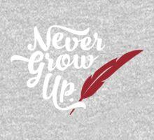 Peter Pan - Never Grow Up. One Piece - Long Sleeve