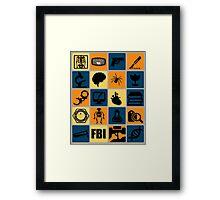 BONES TV Flat Icon Collage Framed Print