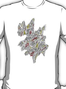 Triangles Design 4 Red and Yellow T-Shirt