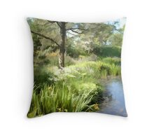 Abstract of Tranquility Throw Pillow