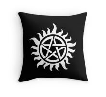 Supernatural Demon Possession Protection [WHITE] Throw Pillow
