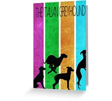 Italian Greyhound simplistic Greeting Card