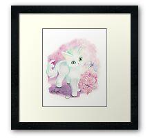 The Little Angel Kitten  Framed Print
