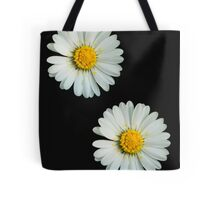 Two white daisies Tote Bag