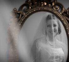 Bride in Mirror by carlhirst