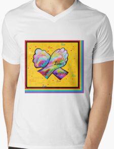 American Sign Language LOVE Mens V-Neck T-Shirt