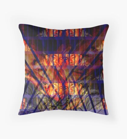 Pacing in Cell Block C Throw Pillow