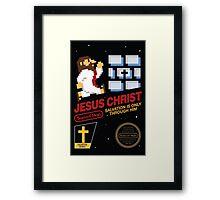 Jesus Christ NES 8bit Framed Print
