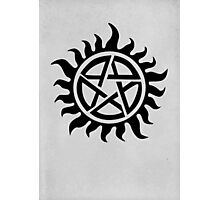 Supernatural Demon Possession Protection [BLACK] Photographic Print