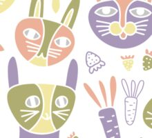 Funny Bunnies Violet Sticker