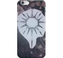 Peacock Feather and Flower Sun iPhone Case/Skin