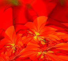 lava glow flowers by machandel