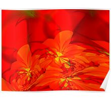 lava glow flowers Poster