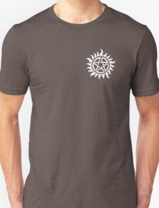 Supernatural Demon Possession Protection (Badge Version) [WHITE] Unisex T-Shirt