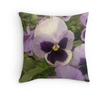 Violets Throw Pillow