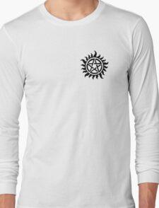 Supernatural Demon Possession Protection (Badge Version) [BLACK] Long Sleeve T-Shirt
