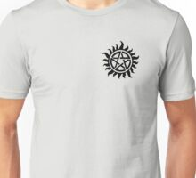 Supernatural Demon Possession Protection (Badge Version) [BLACK] Unisex T-Shirt
