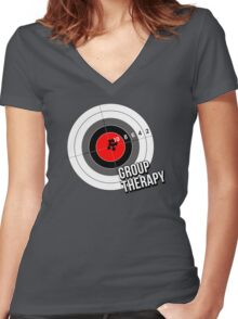 Group Therapy Women's Fitted V-Neck T-Shirt
