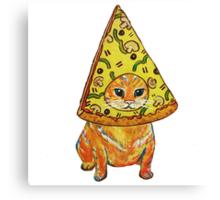 pizza gato Canvas Print