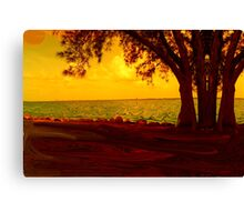 Golden View Canvas Print
