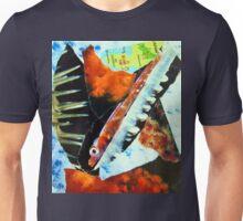 Japan's Izu Oceanic Park torn paper collage Unisex T-Shirt