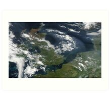 UK and IReland - United Kingdom and Ireland as seen from space Art Print
