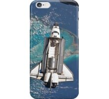 The Space Shuttle in Orbit Around The Earth - As seen from the ISS iPhone Case/Skin
