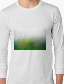 Motion blurred green landscape abstract Long Sleeve T-Shirt