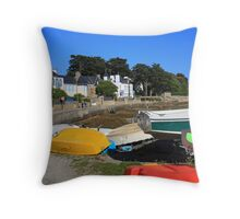 www.lizgarnett.com - Boats at Larmor Baden 2 Throw Pillow