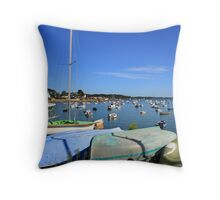 www.lizgarnett.com - Boats at Larmor Baden Throw Pillow