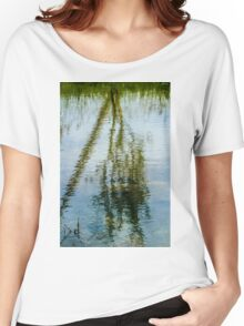 Tree reflected in water  Women's Relaxed Fit T-Shirt